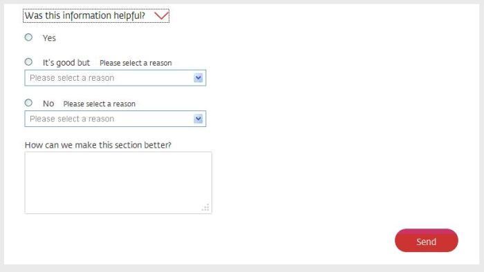 Online feedback box